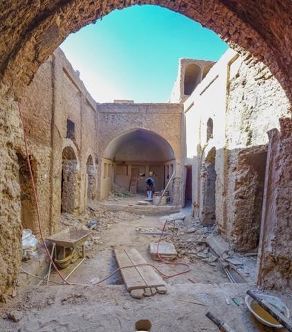 منزل تاریخی زاهدی بشرویه در دست مرمت است