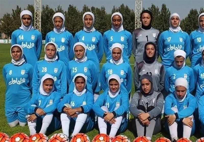مسابقات فوتبال قهرمانی زیر16 سال آسیا، دختران ایران تیم ماریانای شمالی را 12 تایی کردند
