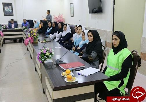 برگزاری کارگاه آموزش ایمنی و اطفاء حریق برای کارکنان بیمارستان مهر خرم آباد
