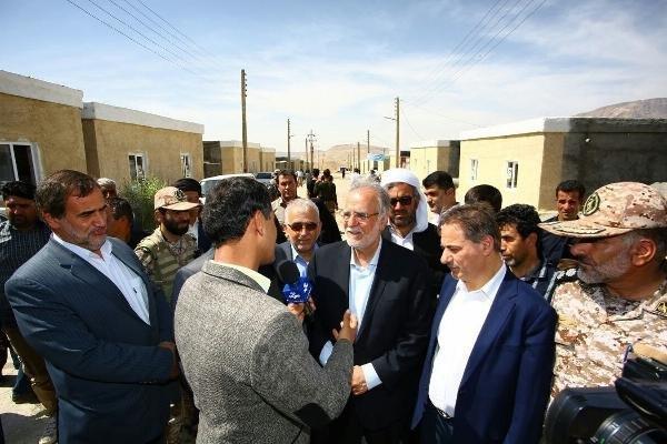 بازدید مدیرعامل چادرملو از طرح های مناطق زلزله زده کرمانشاه