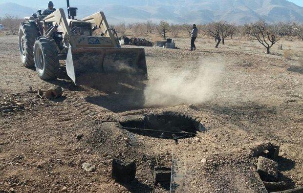 145 حلقه چاه غیر مجاز در استان همدان مسدود شد