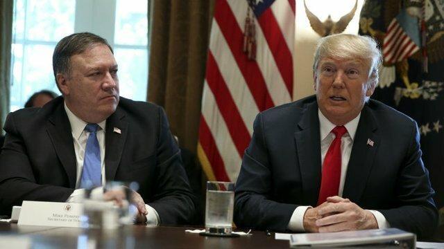 ترامپ احتمال ترک دولت از سوی پامپئو برای حضور در سنا را رد کرد