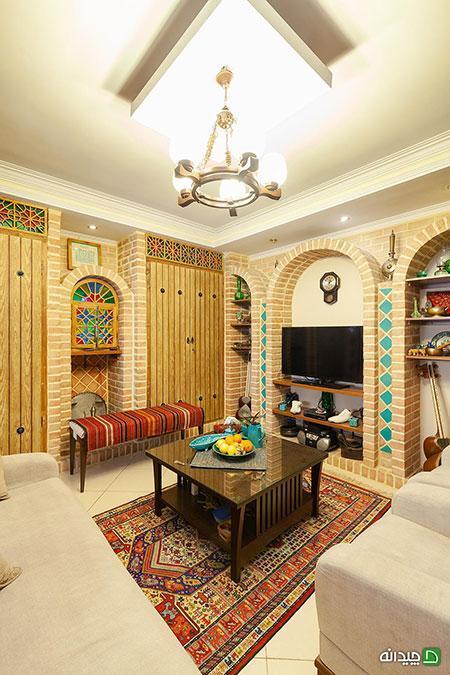 دکوراسیون سنتی؛ خانه سارا و حامد، ایرانی تمام عیار است!