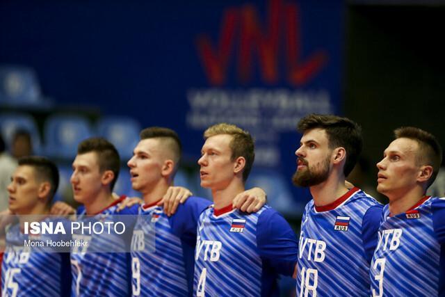 روسیه با شکست کانادا موقتا صدرنشین لیگ ملت های والیبال شد