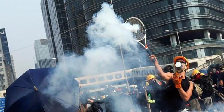 ادامه اعتراضات در هنگ کنگ؛ پلیس از گاز اشک آور استفاده کرد