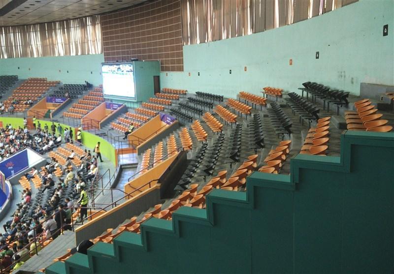 والیبال قهرمانی آسیا، جدال ایران با سریلانکا در حضور داورزنی، فقط 10 درصد سالن آزادی پر شده است