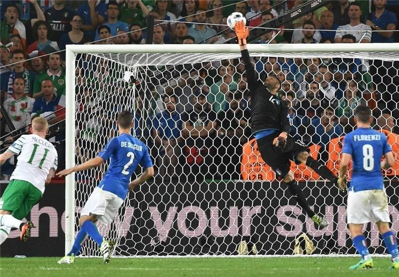 تساوی؛ حاصل کوشش ایتالیا و ایرلند در نیمه اول