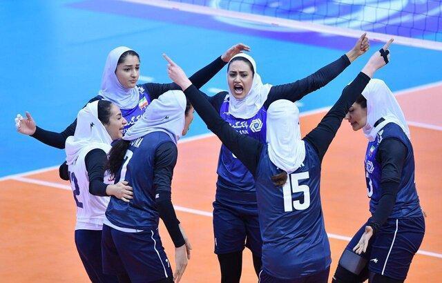 تقابل بانوان والیبالیست ایران و استرالیا در دیداری محبت آمیز