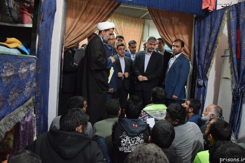 آزادی مشروط تعدادی از زندانیان ندامتگاه تهران بزرگ