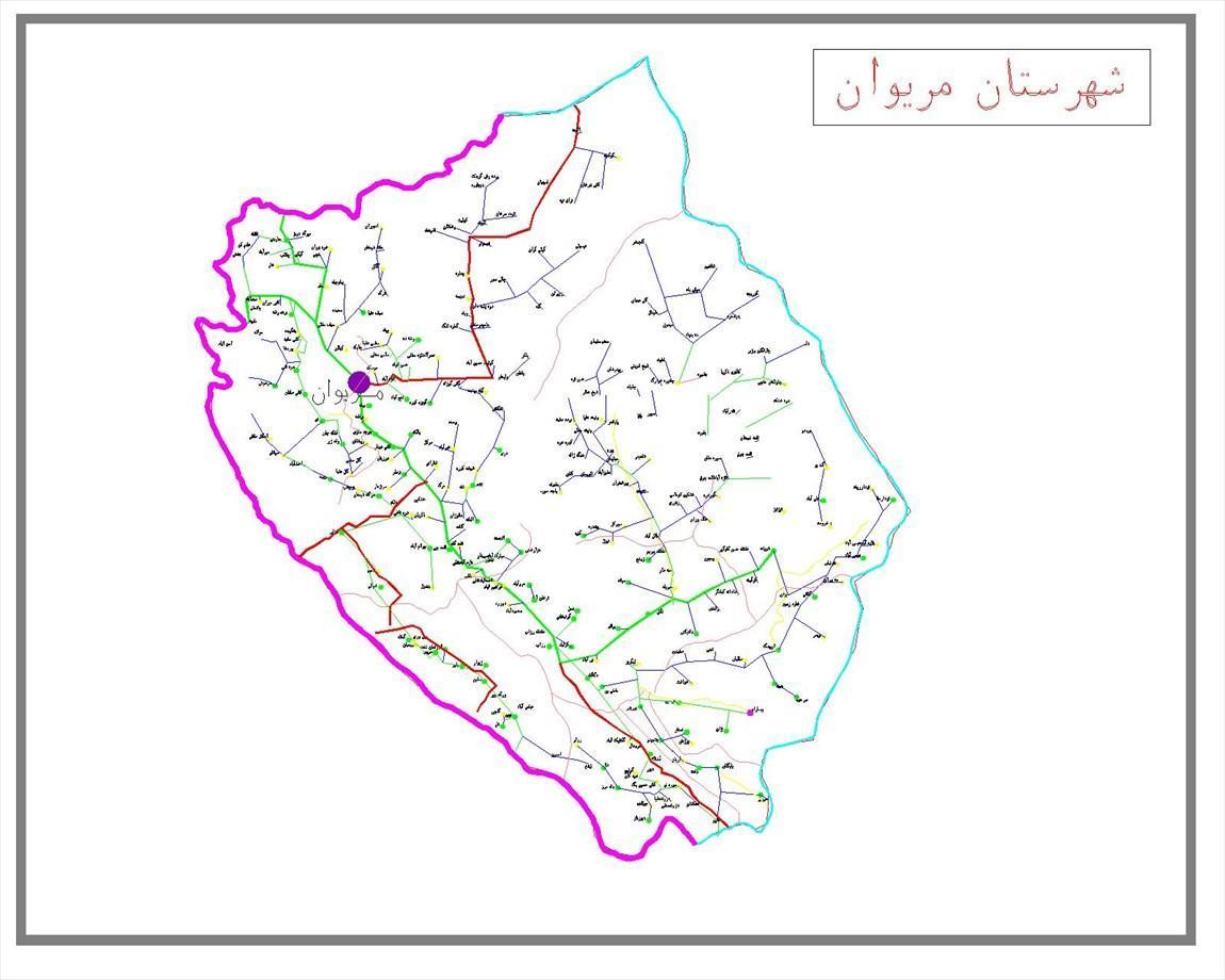 تاریخچه و نقشه جامع شهر مریوان در ویکی خبرنگاران