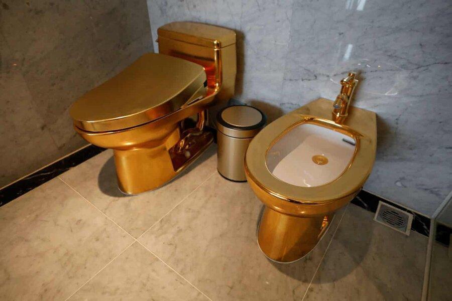 عکس روز، توالت طلایی در هتل طلایی ویتنامی