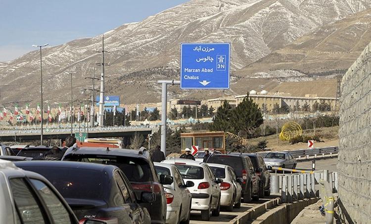 آزادراه تهران - شمال بسته شد