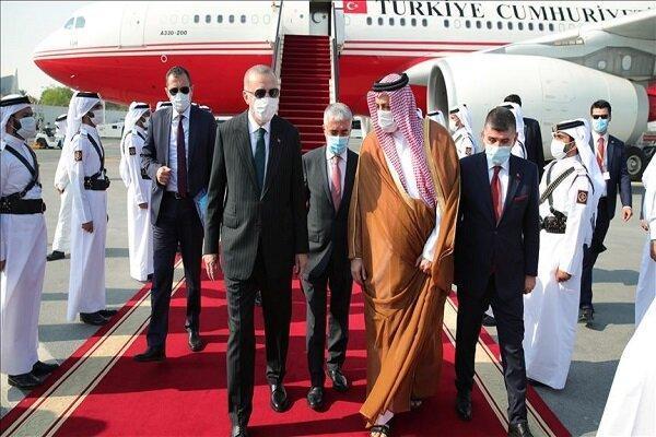 اردوغان به قطر رفت