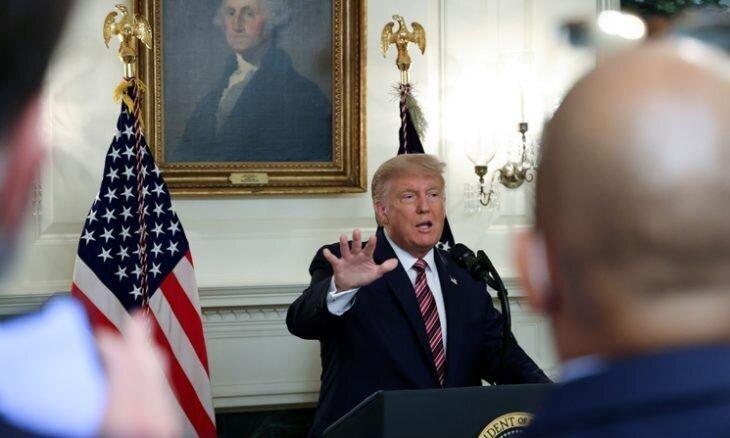 ترامپ پایان اعتراف کرد