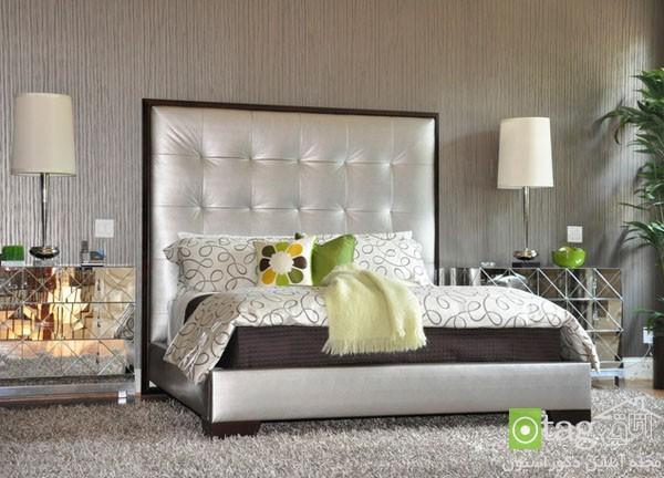 دکوراسیون اتاق خواب امروزی و جدید با استفاده از رنگ نقره ای