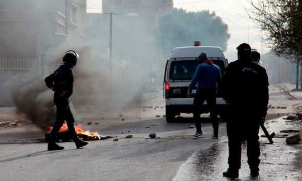 درگیری پلیس و معترضان تونسی در شمال این کشور
