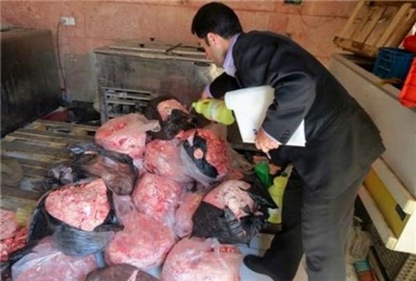 کشف و معدوم سازی 250 کیلوگرم گوشت فاسد و غیر مصرف انسانی در ملکان